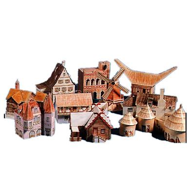 3D - Puzzle Papiermodel Papiermodelle Modellbausätze Berühmte Gebäude Haus Architektur Heimwerken Hartkartonpapier Klassisch Kinder