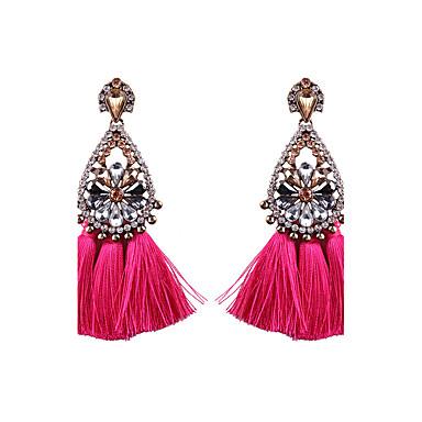 bb46062826ea abordables Pendientes-Mujer Lámparas Araña Pendientes colgantes aretes de  abanico Aretes Gotas de Ojos damas