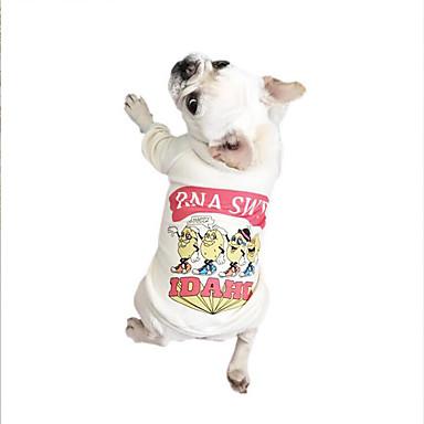 Câine Tricou Îmbrăcăminte Câini Respirabil Casul/Zilnic Literă & Număr Alb Gri Verde Costume Pentru animale de companie