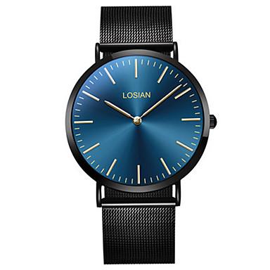 Bărbați Ceas La Modă Ceas de Mână Quartz Oțel inoxidabil Bandă Casual minimalist Negru