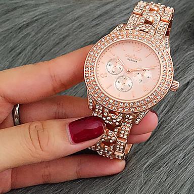 Damen Kleideruhr Modeuhr Armband-Uhr Einzigartige kreative Uhr Armbanduhren für den Alltag Simulierter Diamant Uhr Chinesisch Quartz