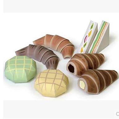 3D - Puzzle Spielessen Papiermodelle Quadratisch Lebensmittel 3D lebensecht Kindersicherung Simulation Heimwerken Kunststoff
