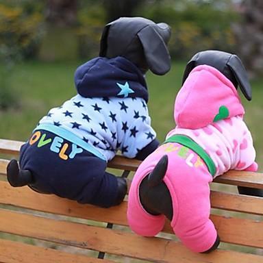 Hund Kostüme Hundekleidung Cosplay Sterne Blau Rosa