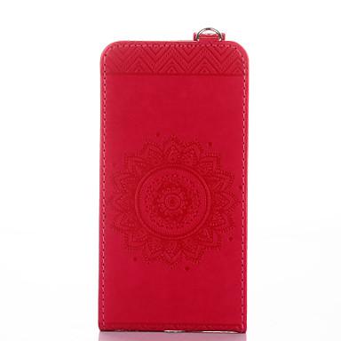 Maska Pentru Huawei Titluar Card Cu Stand Întoarce Embosat Carcasă Telefon Culoare solidă Floare Greu PU piele pentru Huawei Y6 II /