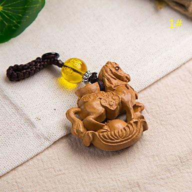 Tas / telefoon / sleutelhanger charme paard cartoon speelgoed houten chinese stijl