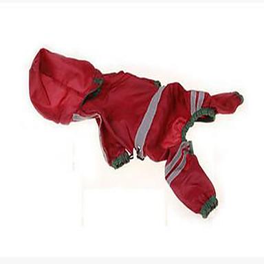 Hund Regenmantel Hundekleidung Lässig/Alltäglich Wasserdicht Solide Gelb Rot Jägergrün Kostüm Für Haustiere