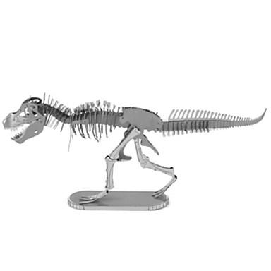 3D - Puzzle Holzpuzzle Metallpuzzle Modellbausätze Tyrannosaurus Dinosaurier Tier 3D Heimwerken Einrichtungsartikel Chrom Metal 6 Jahre