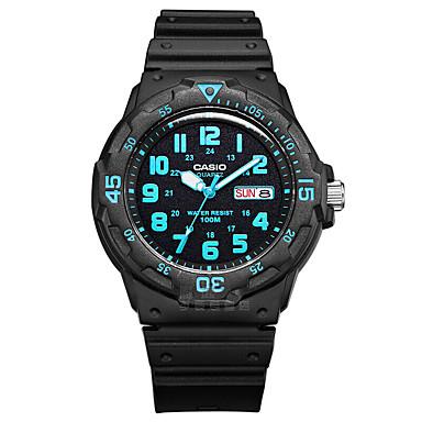 Casio Heren Sporthorloge Modieus horloge Vrijetijdshorloge Digitaal horloge Japans Kwarts Kalender Waterbestendig Grote wijzerplaat Rubber