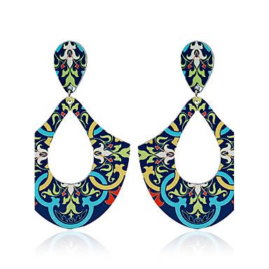 Damen Ohrstecker Kreolen Kugel-Ohrringe Einzigartiges Design Anhänger Stil Retro Natur Handgemacht Metalllegierung Fasergemisch Kreisform