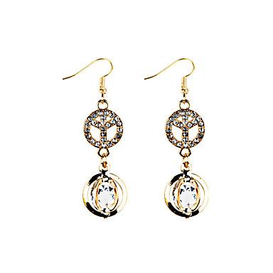 Dames Druppel oorbellen Bergkristal Basisontwerp Uniek ontwerp Brits Klassiek Dubbele laag Vintage Bohemia Style PERSGepersonaliseerd