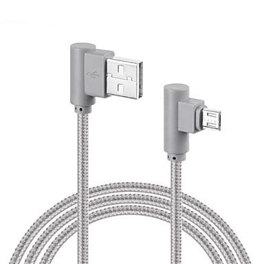 Micro-USB USB-Kabeladapter Geflochten Schnelle Aufladung Kabel Für Samsung Huawei LG Lenovo Xiaomi Sony 100 cm Nylon