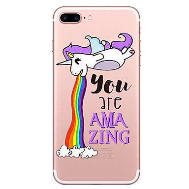 Pentru Apple iPhone 7 7 plus caz acoperă unicorn model pictat de înaltă penetrare tpu material caz caz caz moale pentru iphone 6s 6 plus