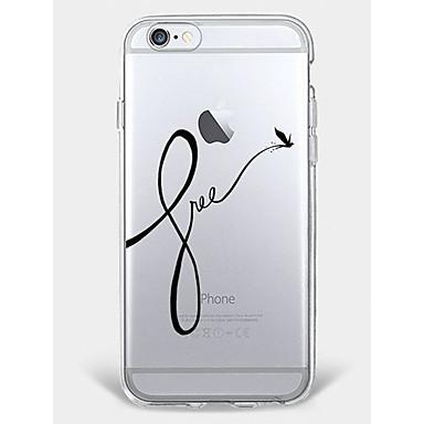 hoesje Voor iPhone 7 Plus iPhone 7 iPhone 6s Plus iPhone 6 Plus iPhone 6s iPhone 6 iPhone 5 iPhone 5c Apple Patroon Achterkant Woord /