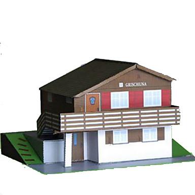3D-puzzels Papierkunst Beroemd gebouw Huis Architectuur Simulatie DHZ Hard Kaart Paper Kinderen Jongens Unisex Geschenk