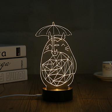 1set 3D Nachtlicht USB Dekorativ Künstlerisch LED