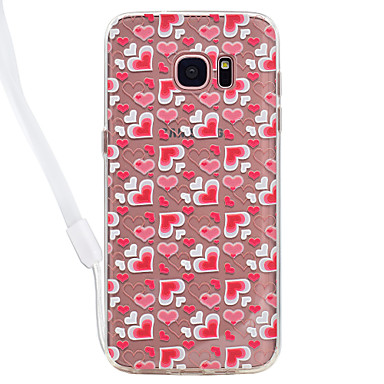 Hülle Für Samsung Galaxy S8 Plus S8 Transparent Muster Rückseitenabdeckung Herz Durchsichtig Hart Acryl für S8 S8 Plus S7 edge S7 S6 edge