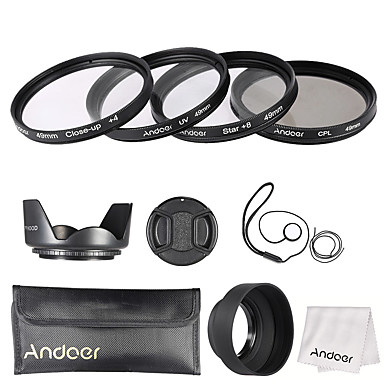 Andoer 49mm Objektivfilter-Kit (uv cpl star8 close-up4)