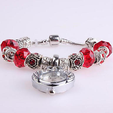 Damen Armband-Uhr digital Metall Band Rot