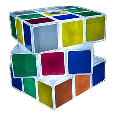 مكعب روبيك السلس مكعب سرعة إضاءةLED مكعبات سحرية البلاستيك مربع هدية
