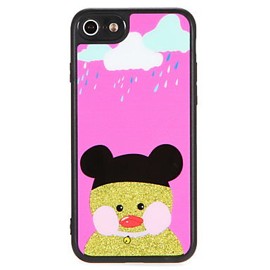 Geval voor apple iphone 7 plus 7 cover patroon met lanyard back cover case cartoon glitter shine harde pc 6s plus 6 plus 6 6s