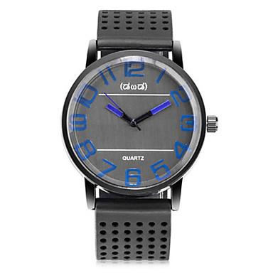 Heren Modieus horloge Kwarts Silicone Band Zwart