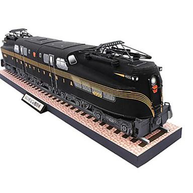 لعبة سيارات قطع تركيب3D نموذج الورق مربع Train اصنع بنفسك ورق صلب كلاسيكي قطار صبيان للجنسين هدية