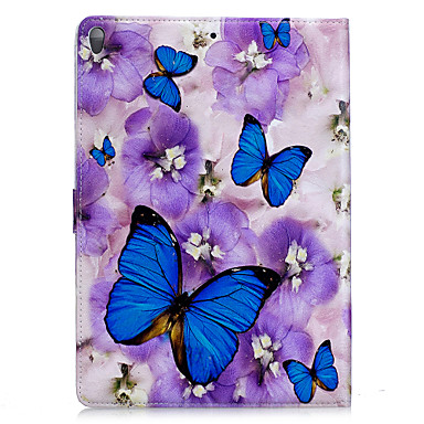Voor appel ipad 2 3 4 air2 pro 10.5 case hoesje vlinder patroon pu materiaal drie vouw plat computer shell telefoon hoesje
