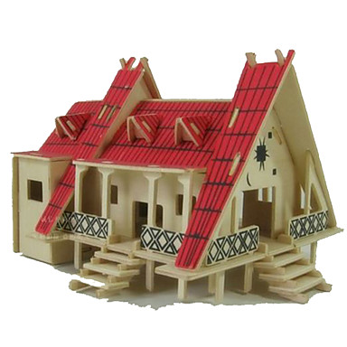 3D - Puzzle Holzpuzzle Modellbausätze Holzmodell Spielzeuge Rechteckig Berühmte Gebäude Architektur 3D Holz Naturholz keine Angaben Stücke