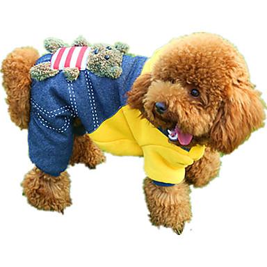 Câine Salopete Îmbrăcăminte Câini Desene Animate Galben Rosu Poliester Jos Costume Pentru animale de companie Casul / Zilnic