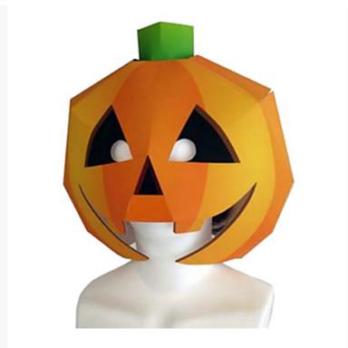 Halloweenmaskers Papierkunst Speeltjes DHZ Pompoen Hard Kaart Paper Horrorthema Klassiek Stuks Unisex Halloween Kinderen Geschenk