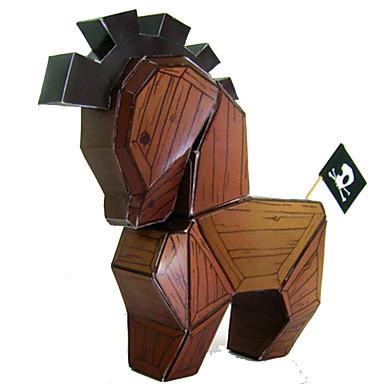 قطع تركيب3D تركيب نموذج الورق مجموعات البناء حصان مواد تأثيث اصنع بنفسك كلاسيكي محبوب للجنسين هدية