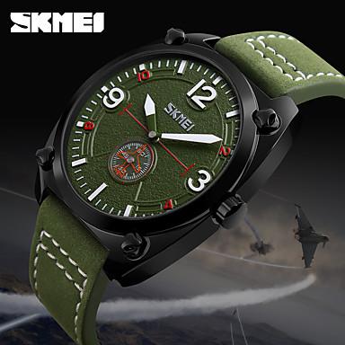 Bărbați Ceas Sport / Uita-te inteligent / Ceas de Mână Chineză Calendar / Creative / LED Piele Autentică Bandă Charm / Casual / Modă Multicolor / Mare Dial