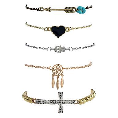 Dames Armbanden met ketting en sluiting Bedelarmbanden Strand Armbanden Gothic Rock Punk Metaallegering Hars Legering Geometrische vorm