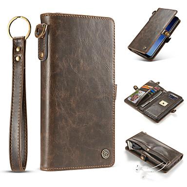Hülle Für Samsung Galaxy S8 Plus S8 Kreditkartenfächer Geldbeutel Flipbare Hülle Ganzkörper-Gehäuse Volltonfarbe Hart Echtleder für S8