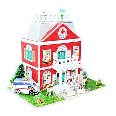 3D - Puzzle Holzpuzzle Modellbausätze Berühmte Gebäude Haus Architektur 3D Heimwerken Hartkartonpapier Klassisch Zeichentrick Unisex