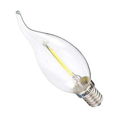 2W E14 مصابيحLED C35 2 الأضواء COB تخفيت أبيض دافئ أبيض 200lm 2700-3200 6000-6500K AC 220-240V