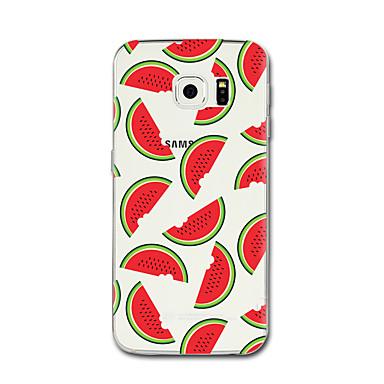 hoesje Voor Samsung Galaxy Transparant Patroon Achterkant Fruit Zacht TPU voor S6 edge plus S6 edge S6