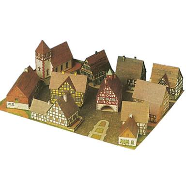قطع تركيب3D أشغال الورق معمارية اصنع بنفسك ورق صلب كلاسيكي للأطفال صبيان للجنسين هدية