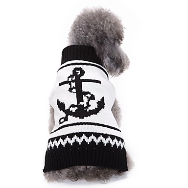 Hond kostuums Hondenkleding Cosplay Stripprint Zwart Koffie