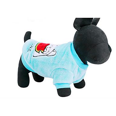 كلب كنزة ملابس الكلاب كاجوال/يومي كرتون أزرق زهري