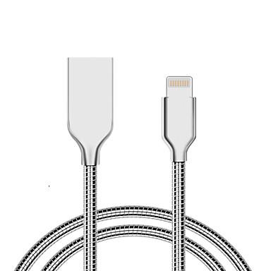 USB 2.0 USB-Kabeladapter Normal Kabel Für iPad iPhone 100 cm Aluminium