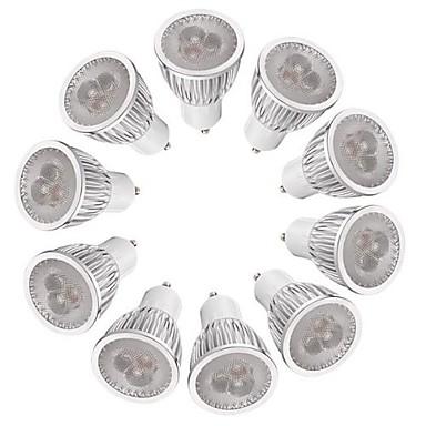 3W 260-300 lm GU10 LED ضوء سبوت MR16 3 الأضواء طاقة عالية LED تخفيت أبيض دافئ أبيض أس 220-240V