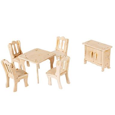 Puzzle 3D Puzzle Modelul lemnului Jucarii Aeronavă Clădire celebru Mobila Arhitectură 3D Reparații Hârtie cărți de masă Lemn Ne