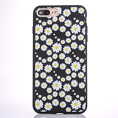 غطاء من أجل Apple مثلج نموذج غطاء خلفي زهور ناعم TPU إلى فون 7 زائد فون 7 iPhone 6s Plus iPhone 6 Plus iPhone 6s أيفون 6 iPhone SE/5s