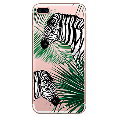 hoesje Voor Apple iPhone 7 Plus iPhone 7 Transparant Patroon Achterkant Boom dier Zacht TPU voor iPhone 7 Plus iPhone 7 iPhone 6s Plus