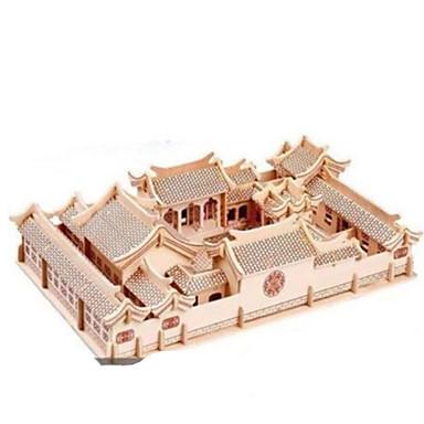 3D-puzzels Metalen puzzels Houten modellen Modelbouwsets Architectuur DHZ Natuurlijk Hout Klassiek Kinderen Volwassenen Unisex Geschenk
