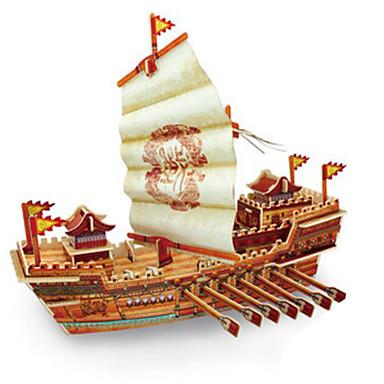 Robotime 3D-puzzels Legpuzzel Houten modellen Modelbouwsets Oorlogsschip Schip 3D DHZ Hout Klassiek Unisex Geschenk