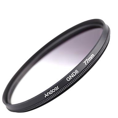 Andoer 77mm formă circulară gradată densitate neutră gnd8 filtru gri gradat pentru canon nikon dslr camera