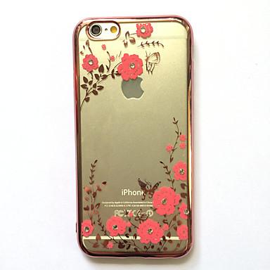 Hülle Für Apple iPhone 7 Plus iPhone 7 Strass Beschichtung Muster Rückseite Blume Weich TPU für iPhone 7 Plus iPhone 7 iPhone 6s Plus