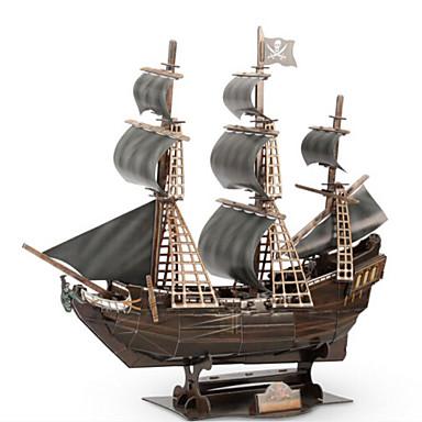 Puzzle 3D Puzzle Navă Militară Navă 3D Lemn natural Unisex Cadou